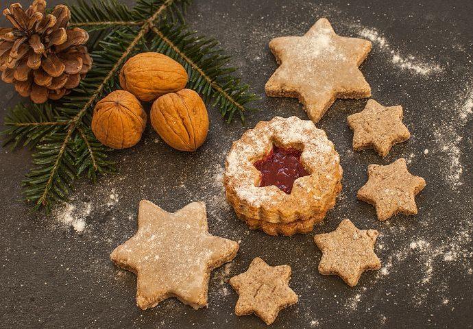 Winter stars cookies
