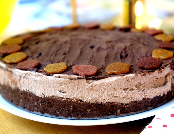 Chocolate vegan cheesecake